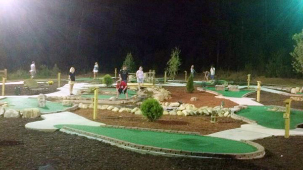 Cohutta Cove Mini Golf at Night